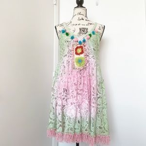 NWT Antica Sartotia Boho Lace Dress/Tunic/Coverup
